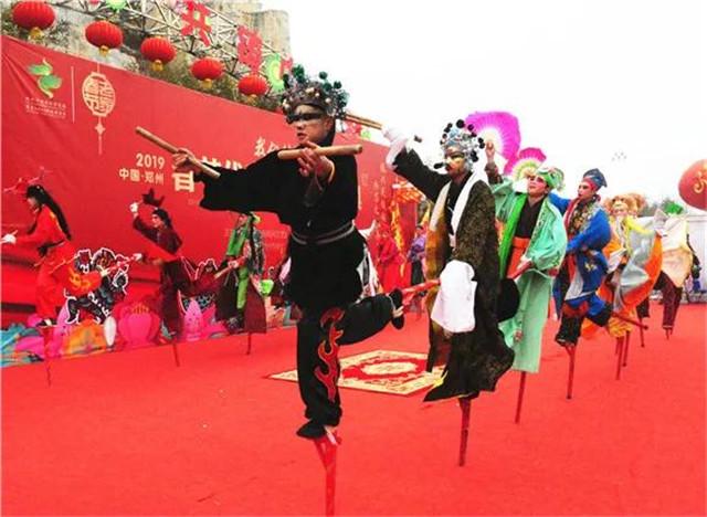 郑州绿博园传统民俗文化活动争相上演 年味儿十足